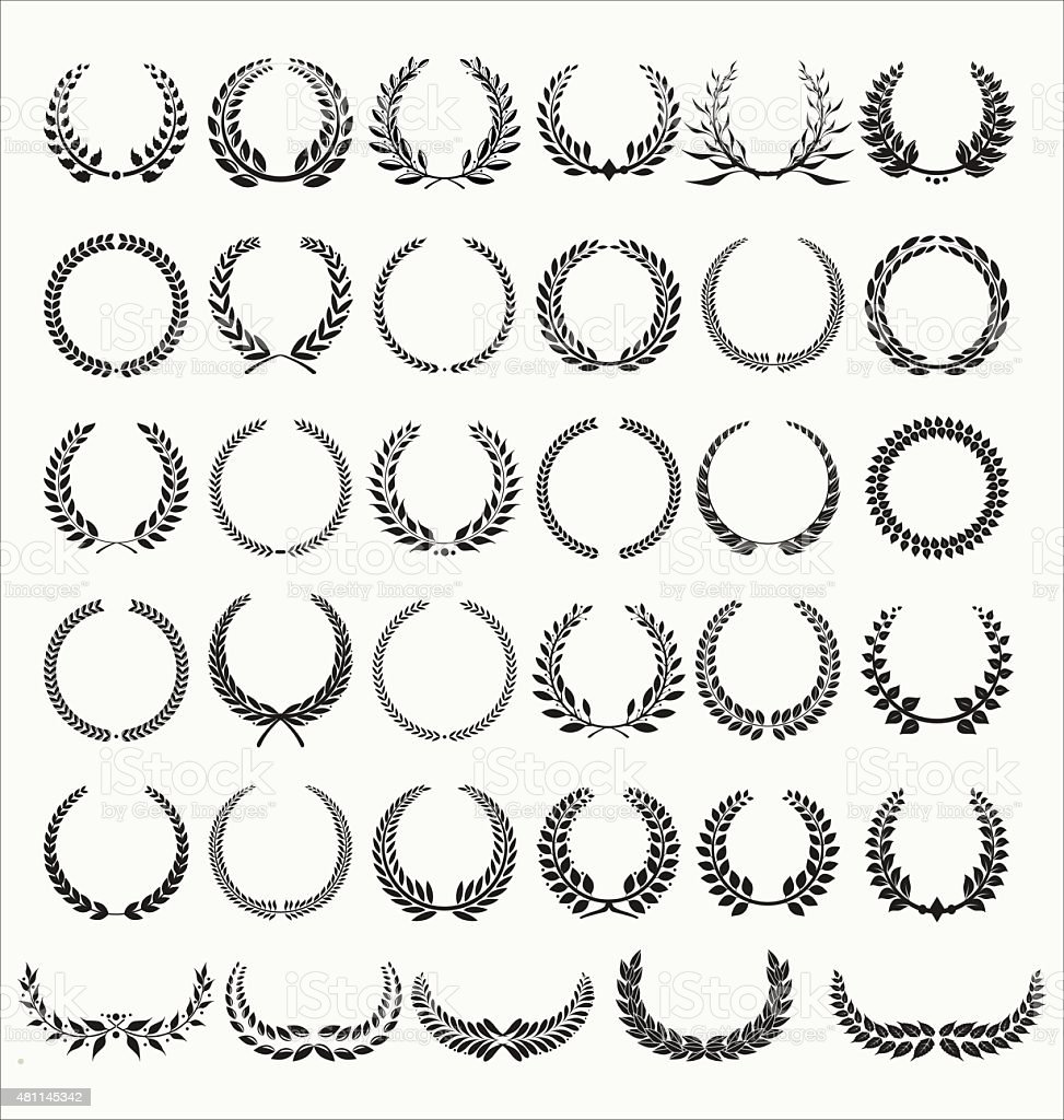 Laurel Wreaths Vector Collection vector art illustration