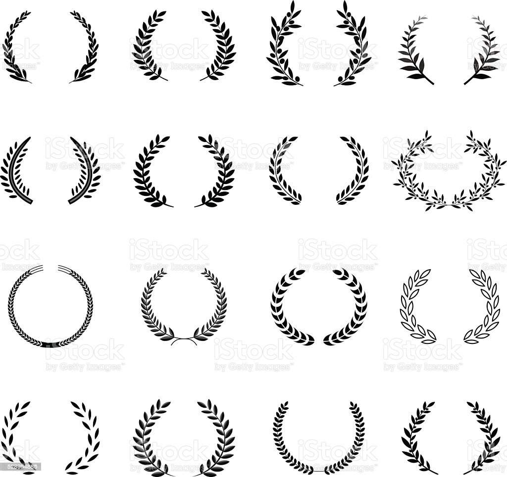 Laurel Wreaths Vector. Elements vector art illustration