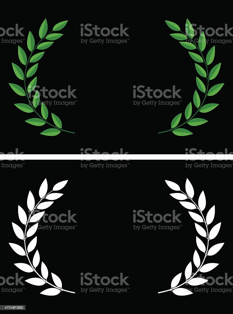 Laurels vector art illustration