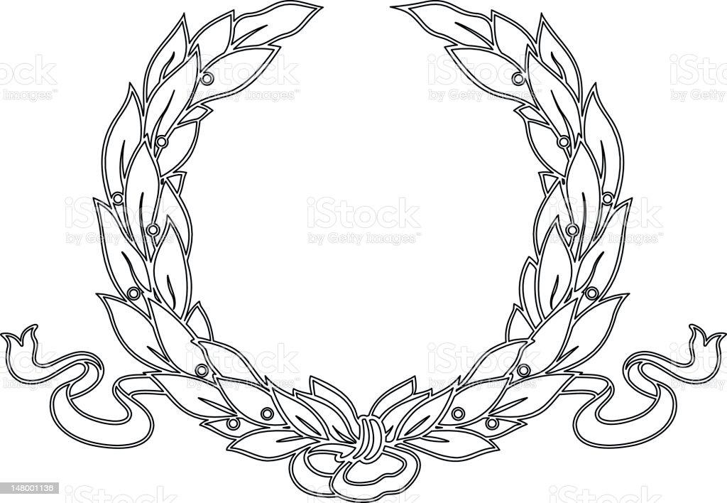laurelwreath1 royalty-free stock vector art