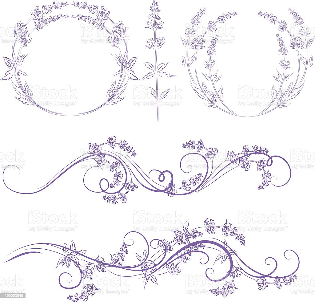 lavender ornament royalty-free stock vector art