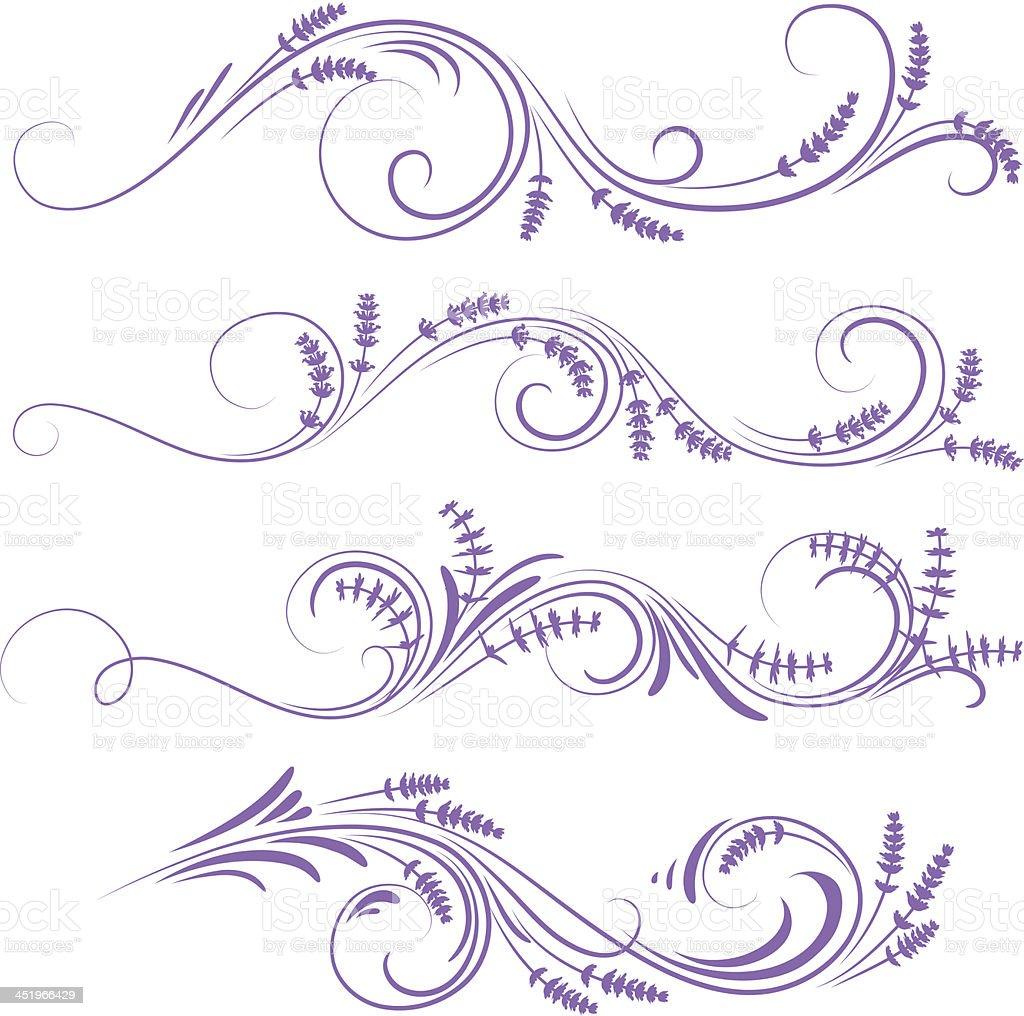 lavender ornament vector art illustration