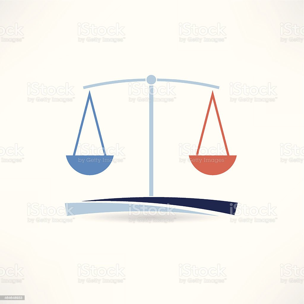 law abstract icon vector art illustration