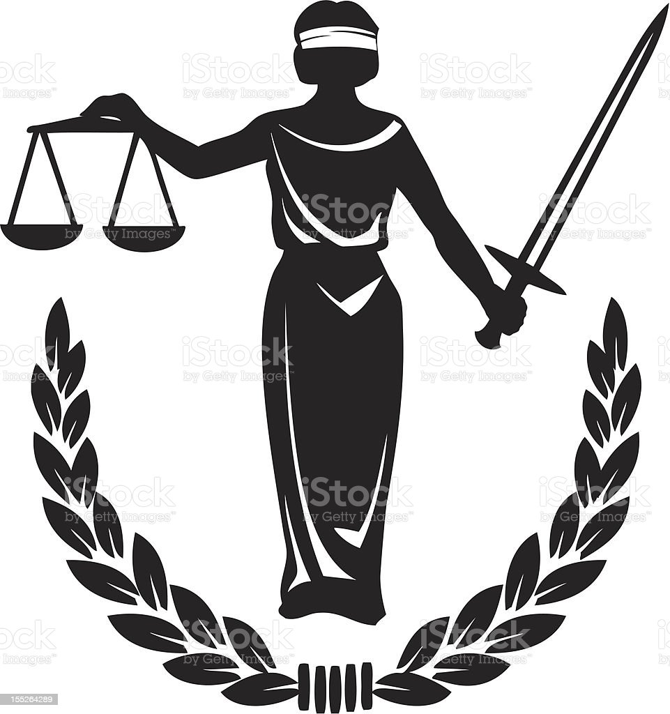 Law and Justice vector art illustration