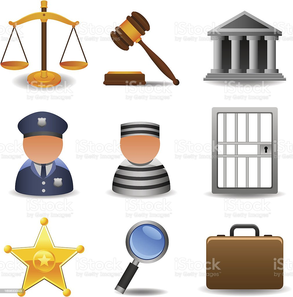 Law and Justice royalty-free stock vector art