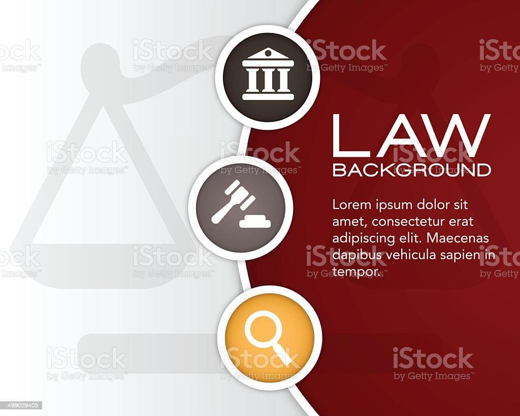 Law Background vector art illustration