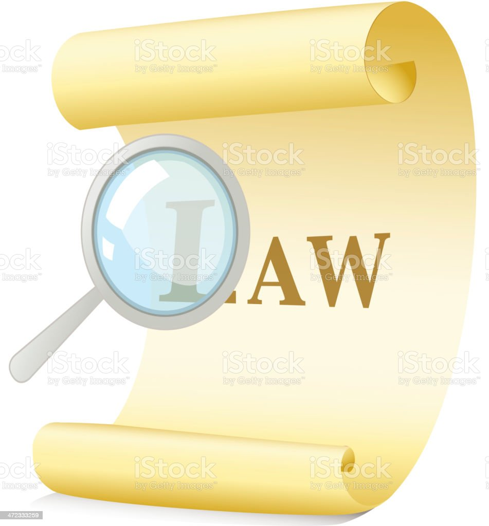 Law concept royalty-free stock vector art