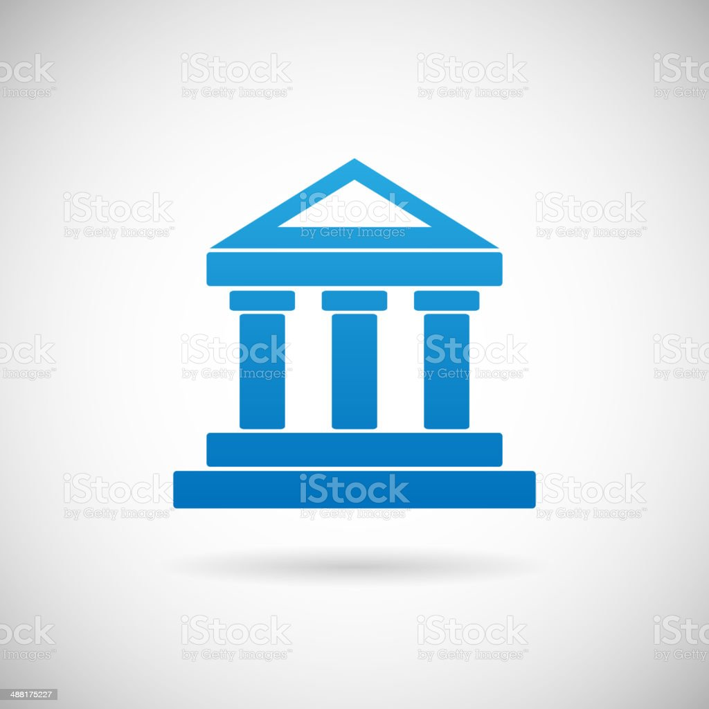 Law Court Bank House Symbol Justice Finance Icon Design Template vector art illustration