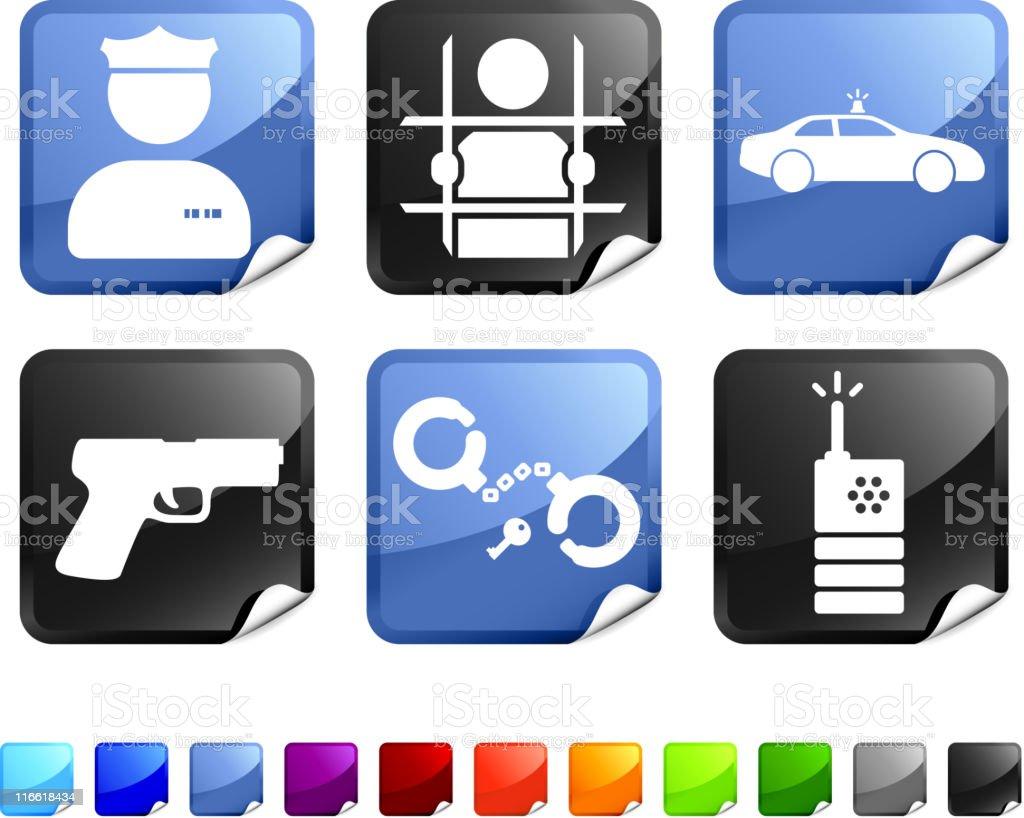 Law Enforcement royalty free vector icon set vector art illustration