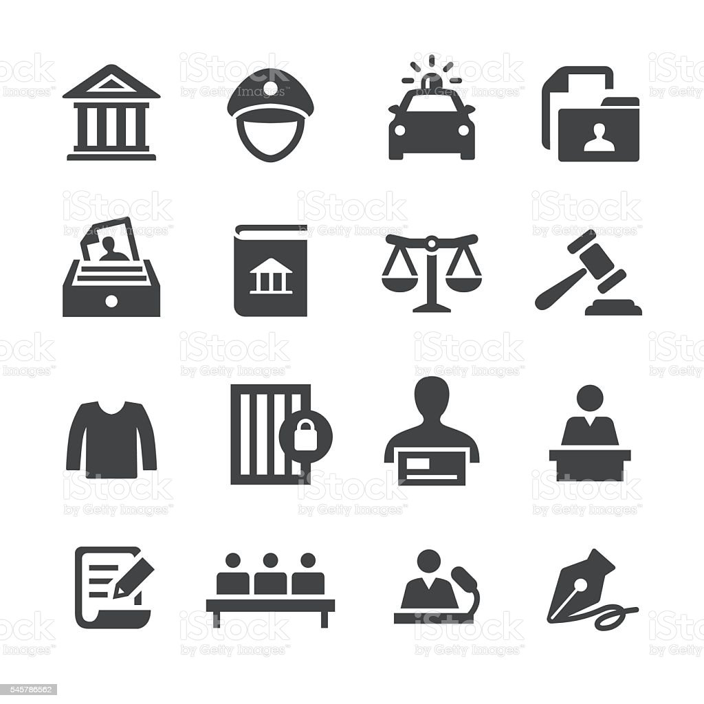Law Icons - Acme Series vector art illustration
