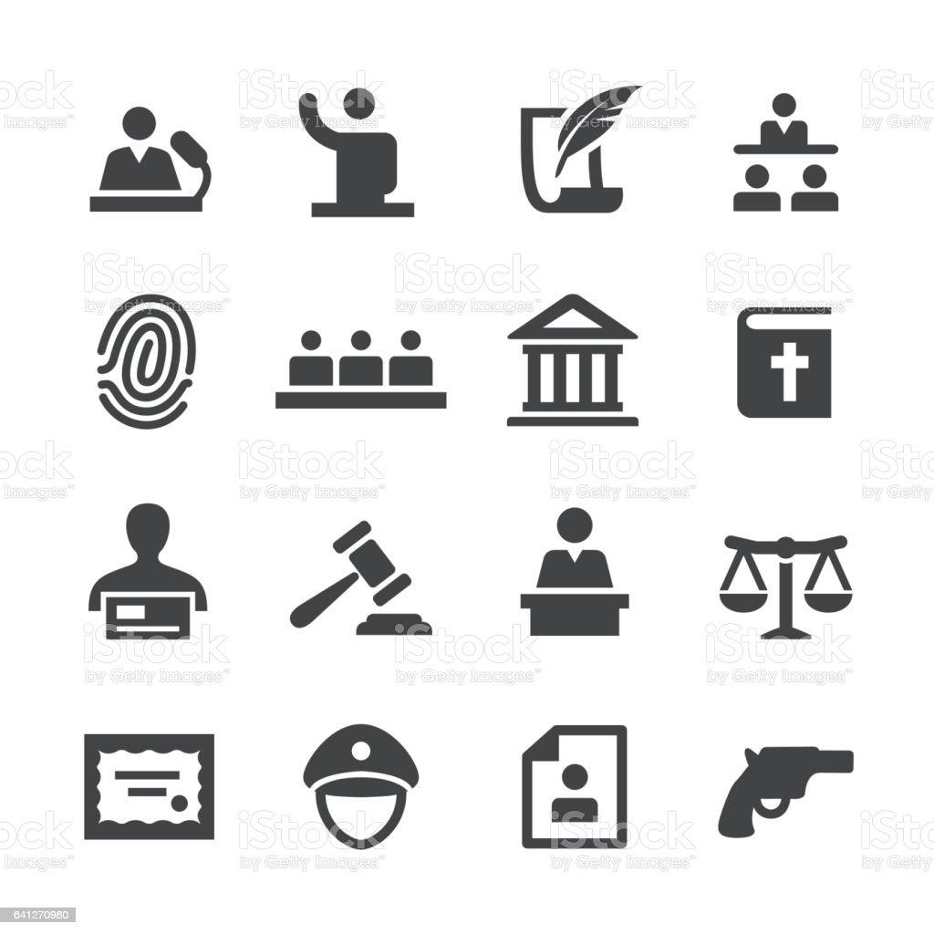 Law Icons Set - Acme Series vector art illustration