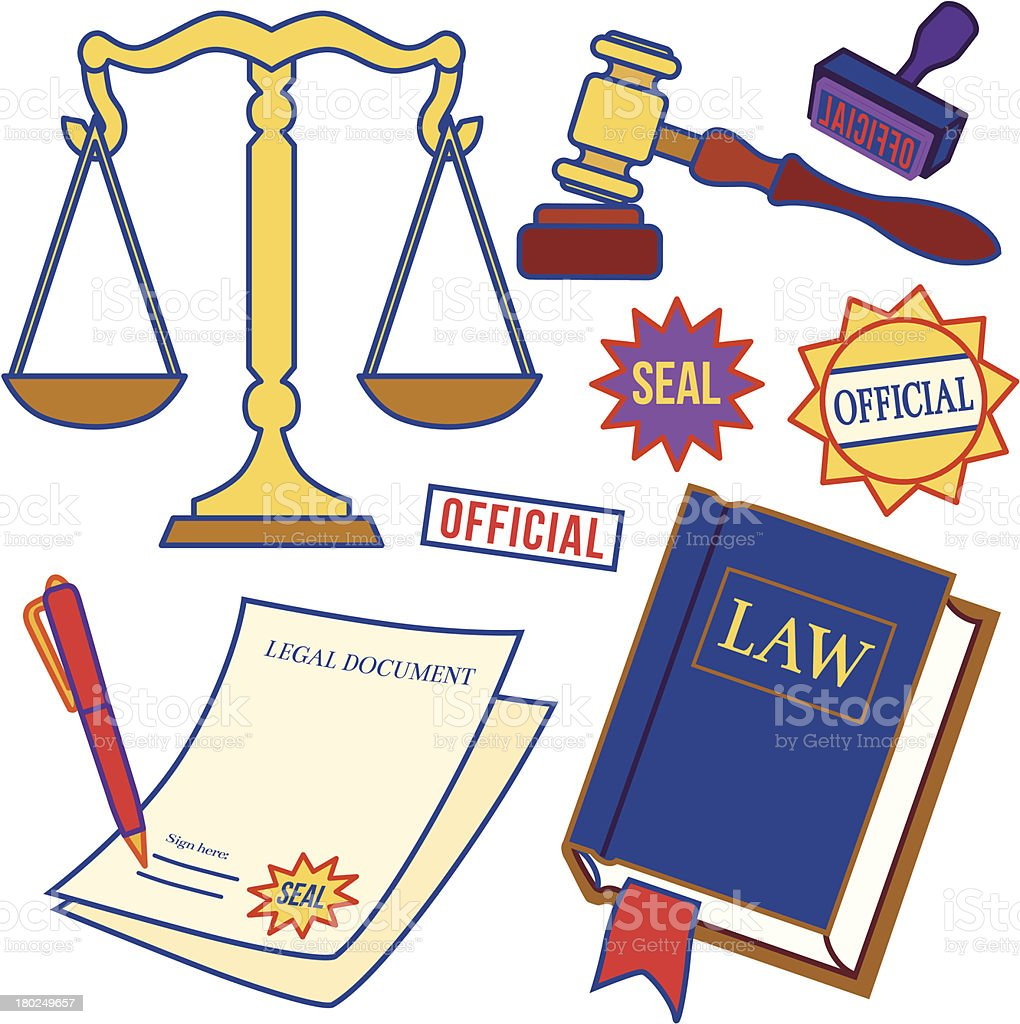 law icons royalty-free stock vector art