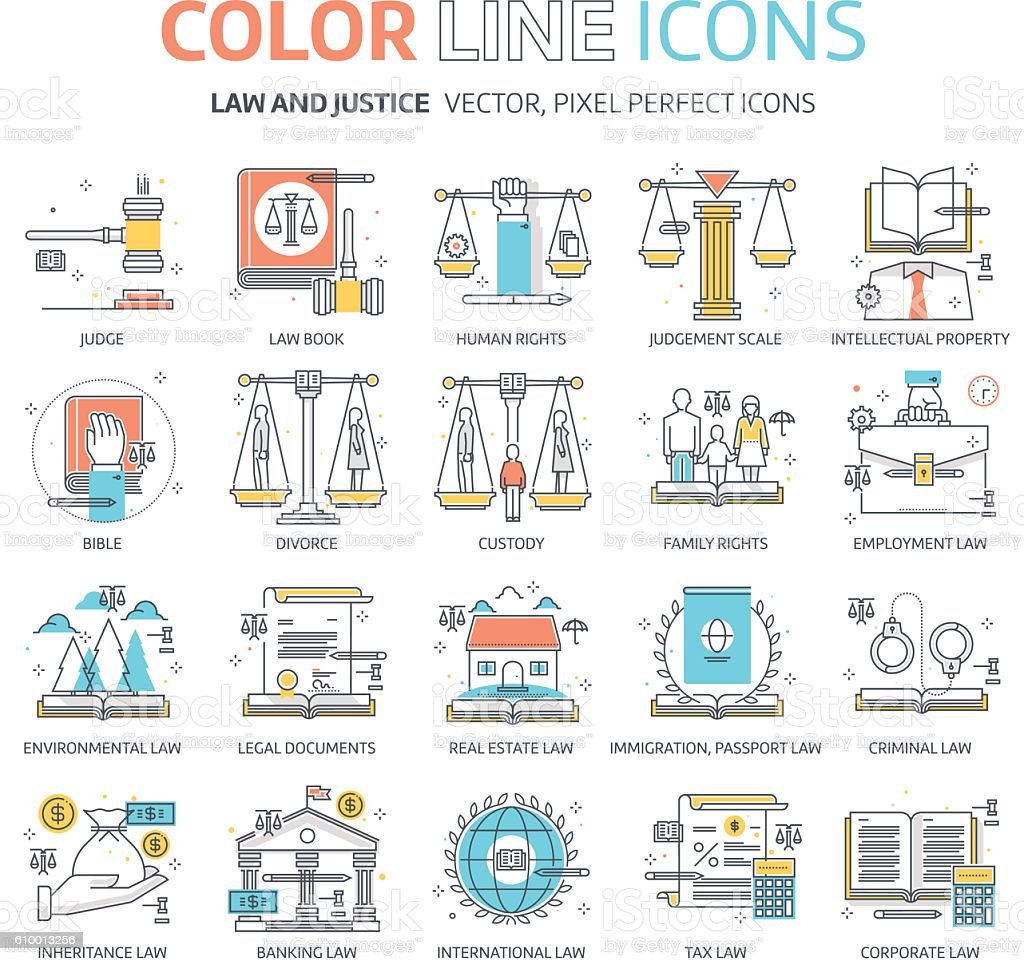 law illustrations vector art illustration
