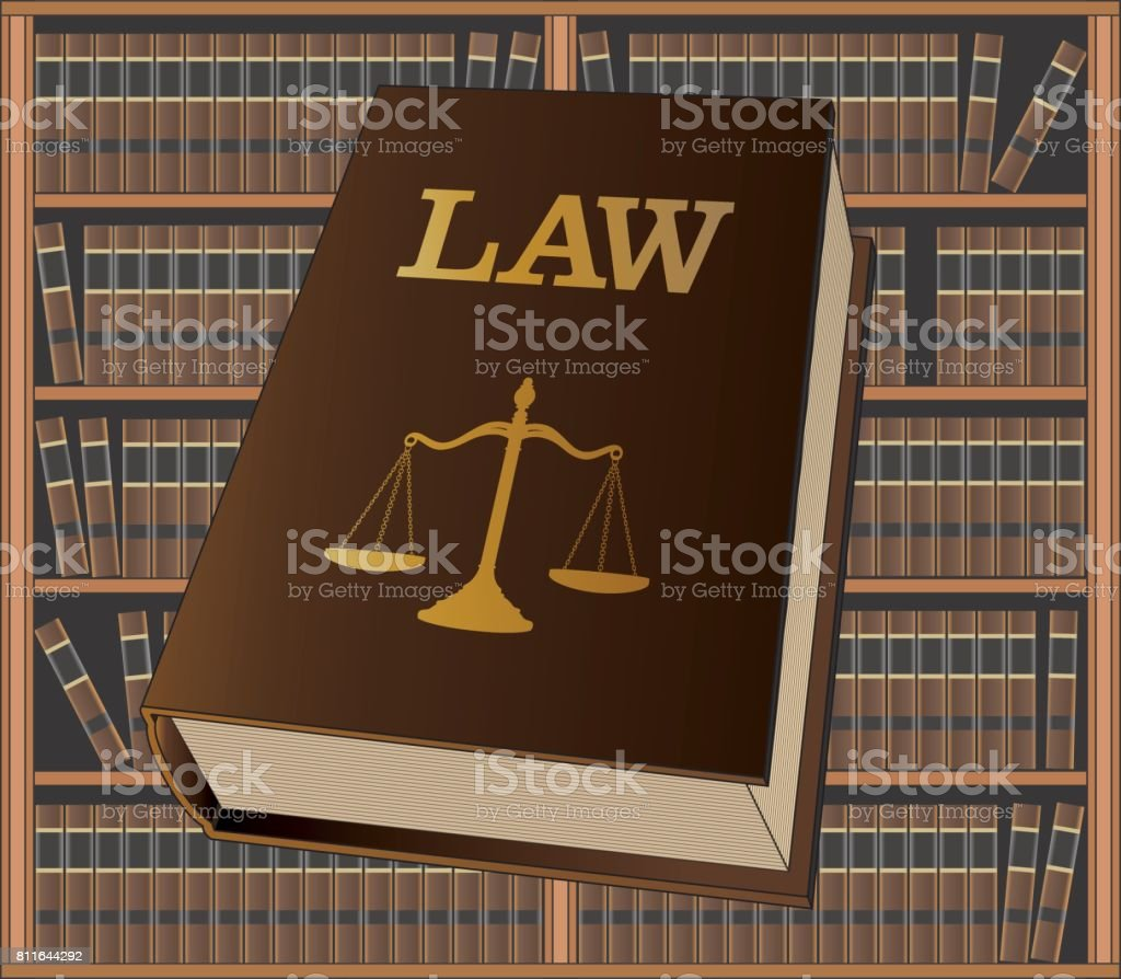 Law Library vector art illustration