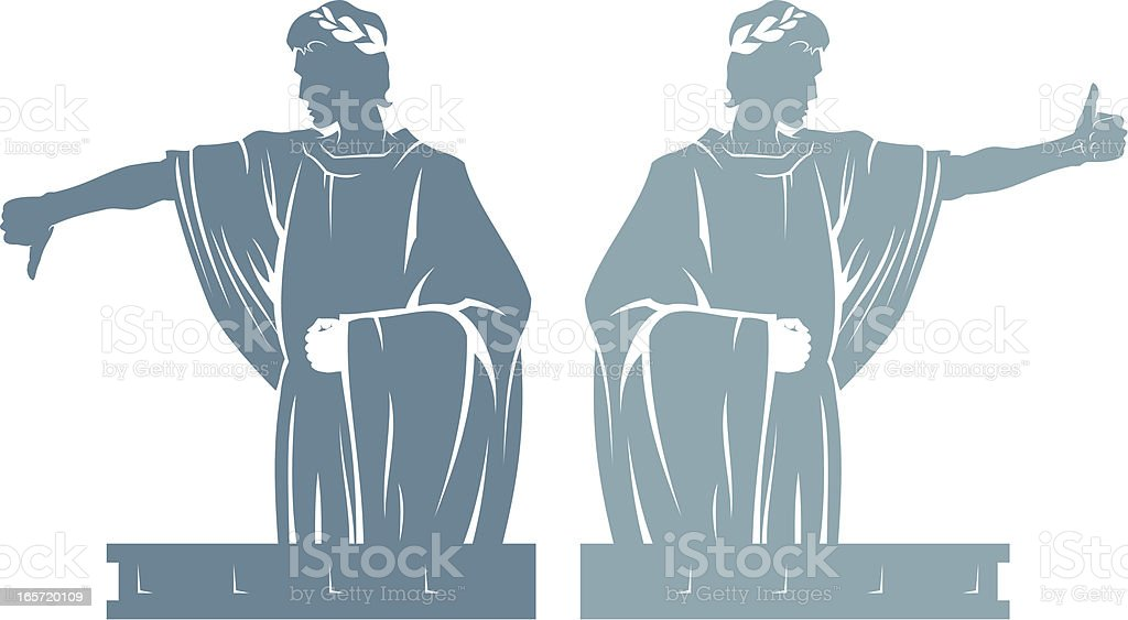 Law of the Emperor royalty-free stock vector art