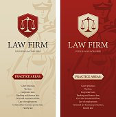 Law office, firm or company vertical banners
