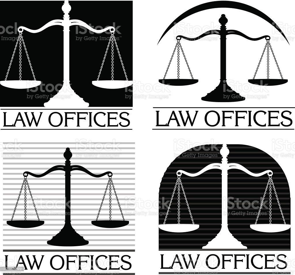 Law Offices vector art illustration