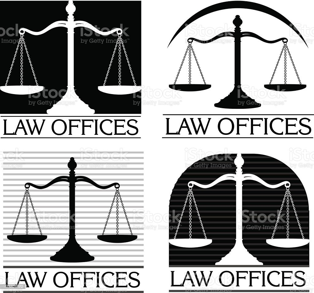 Law Offices vector art illustration