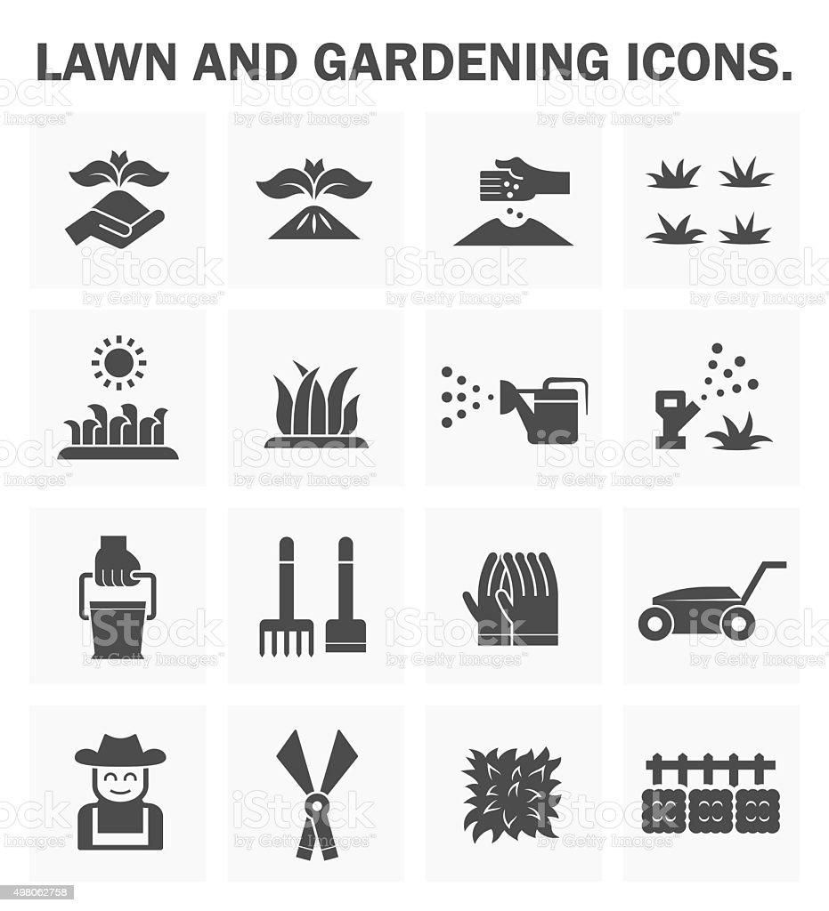 Lawn and gardening vector art illustration