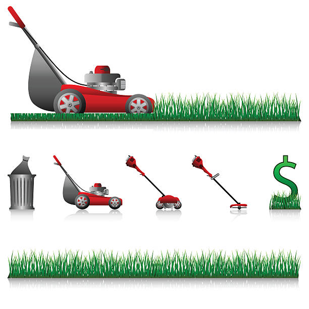 Lawn Mower Clip Art, Vector Images & Illustrations - iStock