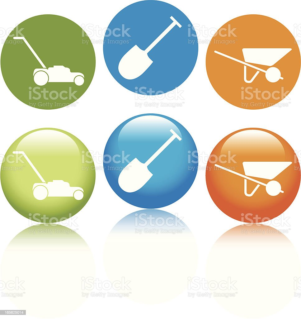 Lawn Care Icons royalty-free stock vector art