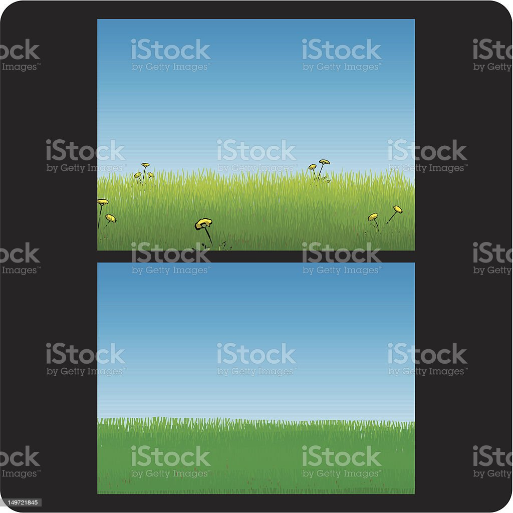 Lawn Care (Before & After) royalty-free stock vector art