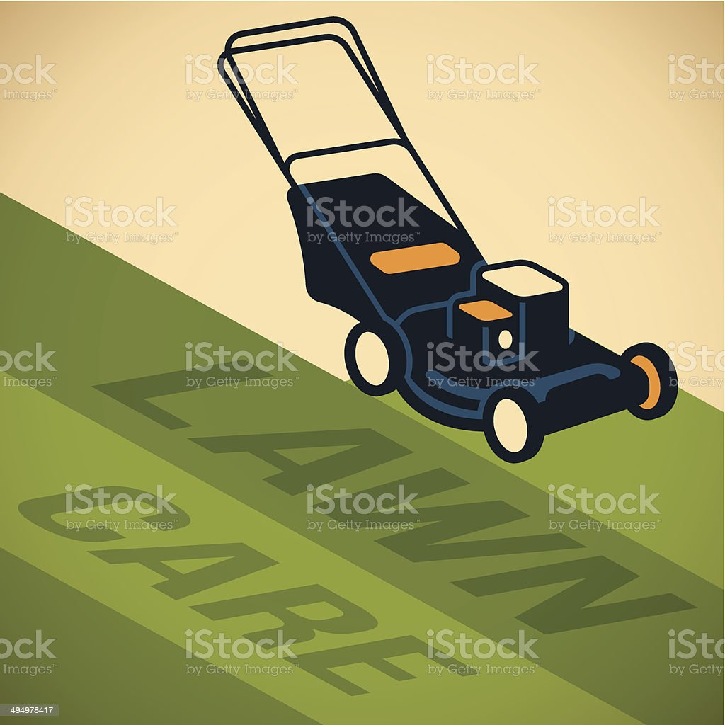 Lawn Care vector art illustration