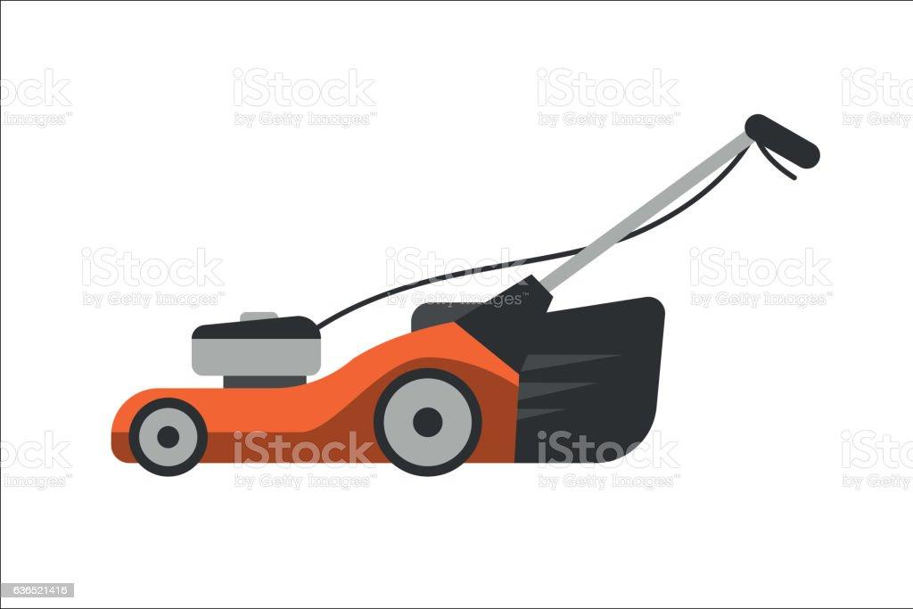 Lawn mower vector illustration. vector art illustration