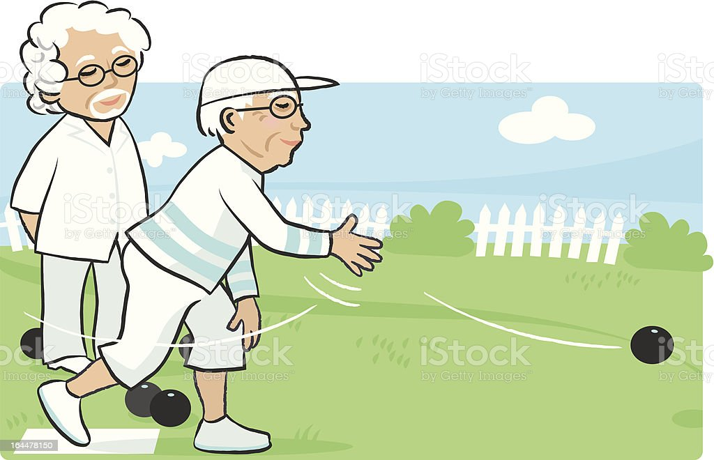 lawn-bowling vector art illustration