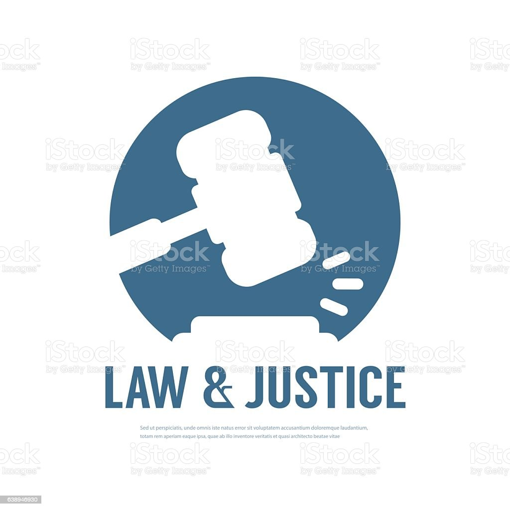 Lawyer Attorney Legal Law Logo vector art illustration