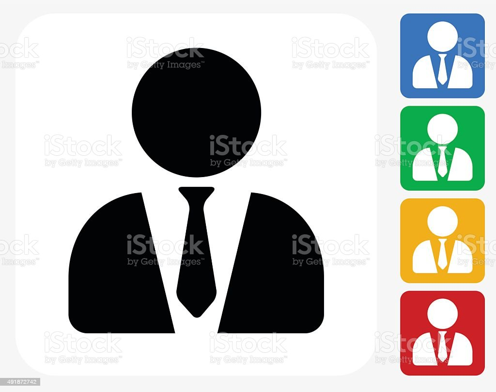Lawyer Icon Flat Graphic Design vector art illustration