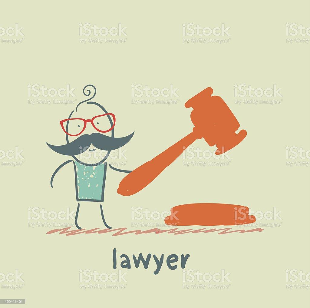 lawyer knocking hammer royalty-free stock vector art