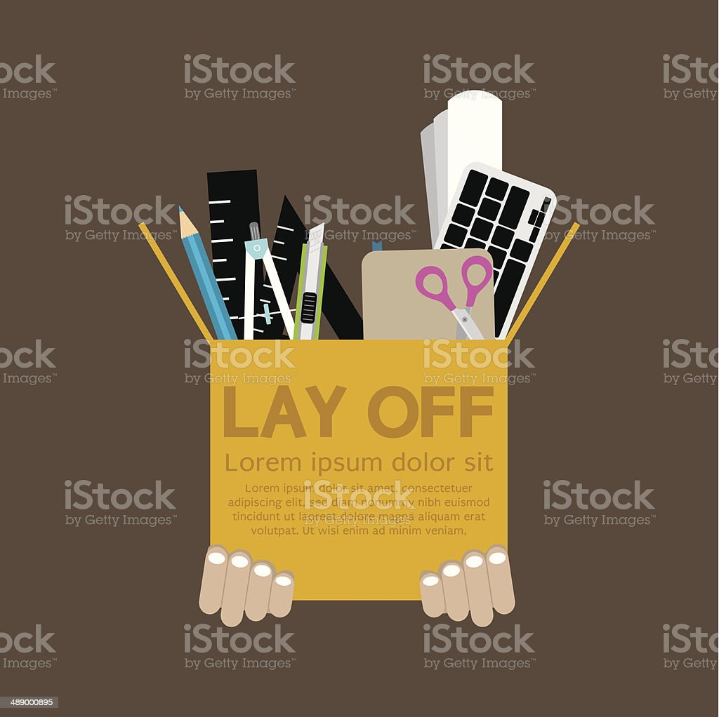Lay Off vector art illustration