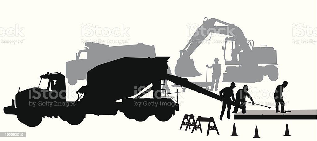 Laying Cement Vector Silhouette royalty-free stock vector art
