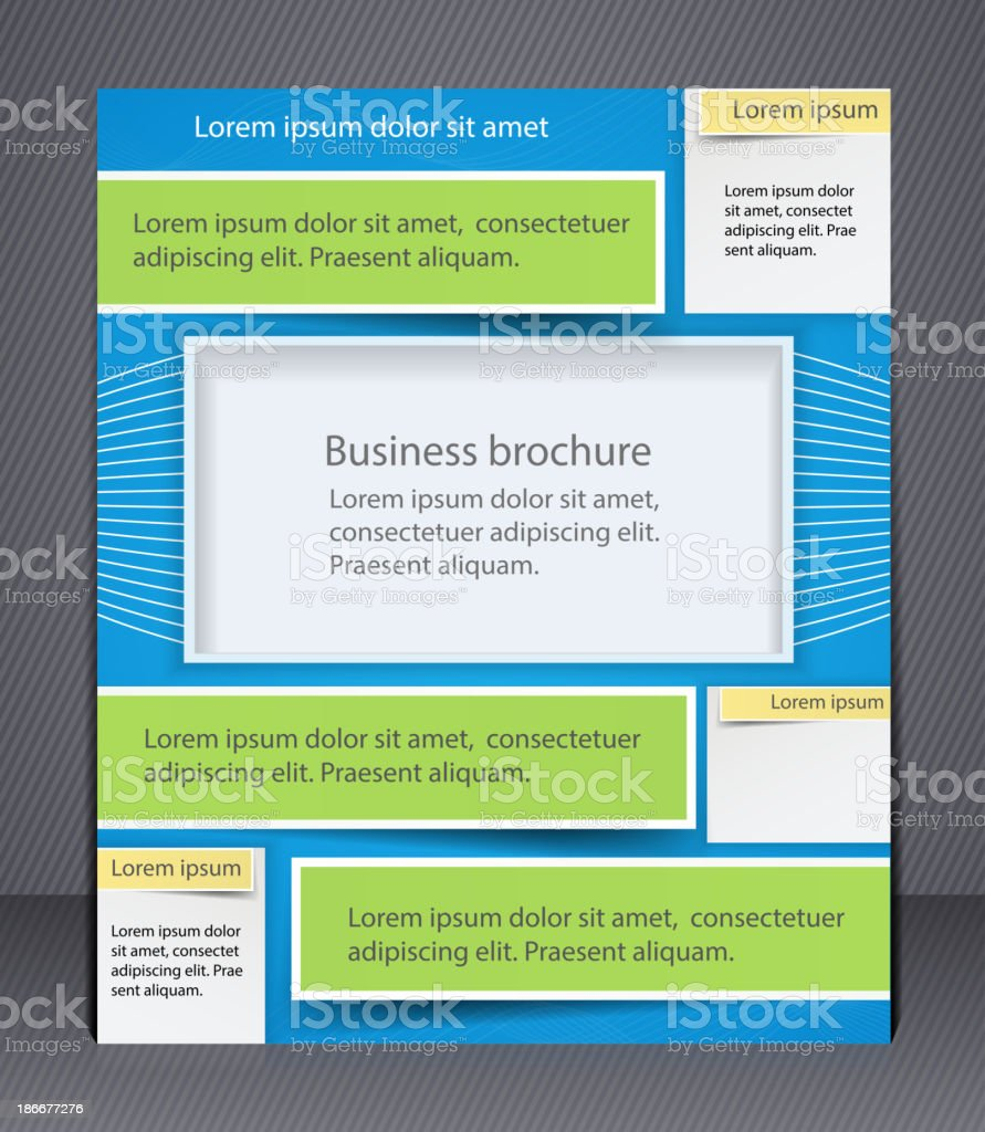 Layout business brochure. royalty-free stock vector art