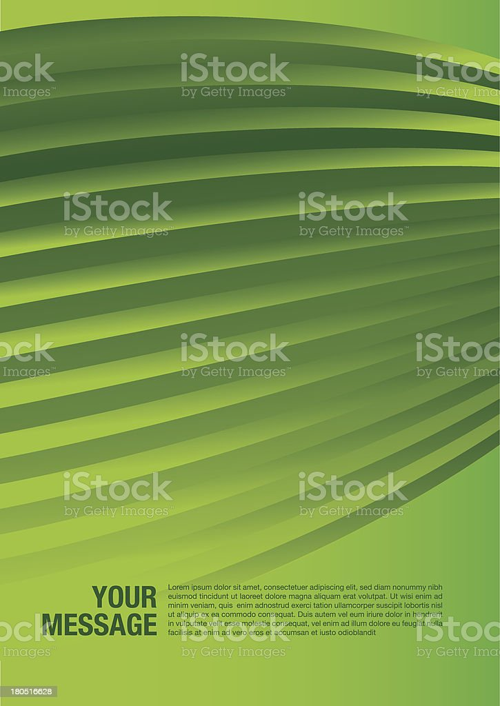 Layout design of smooth lines background in green color royalty-free stock vector art