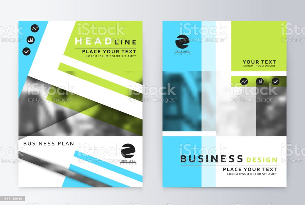 Layout design template, annual report brochure. vector art illustration