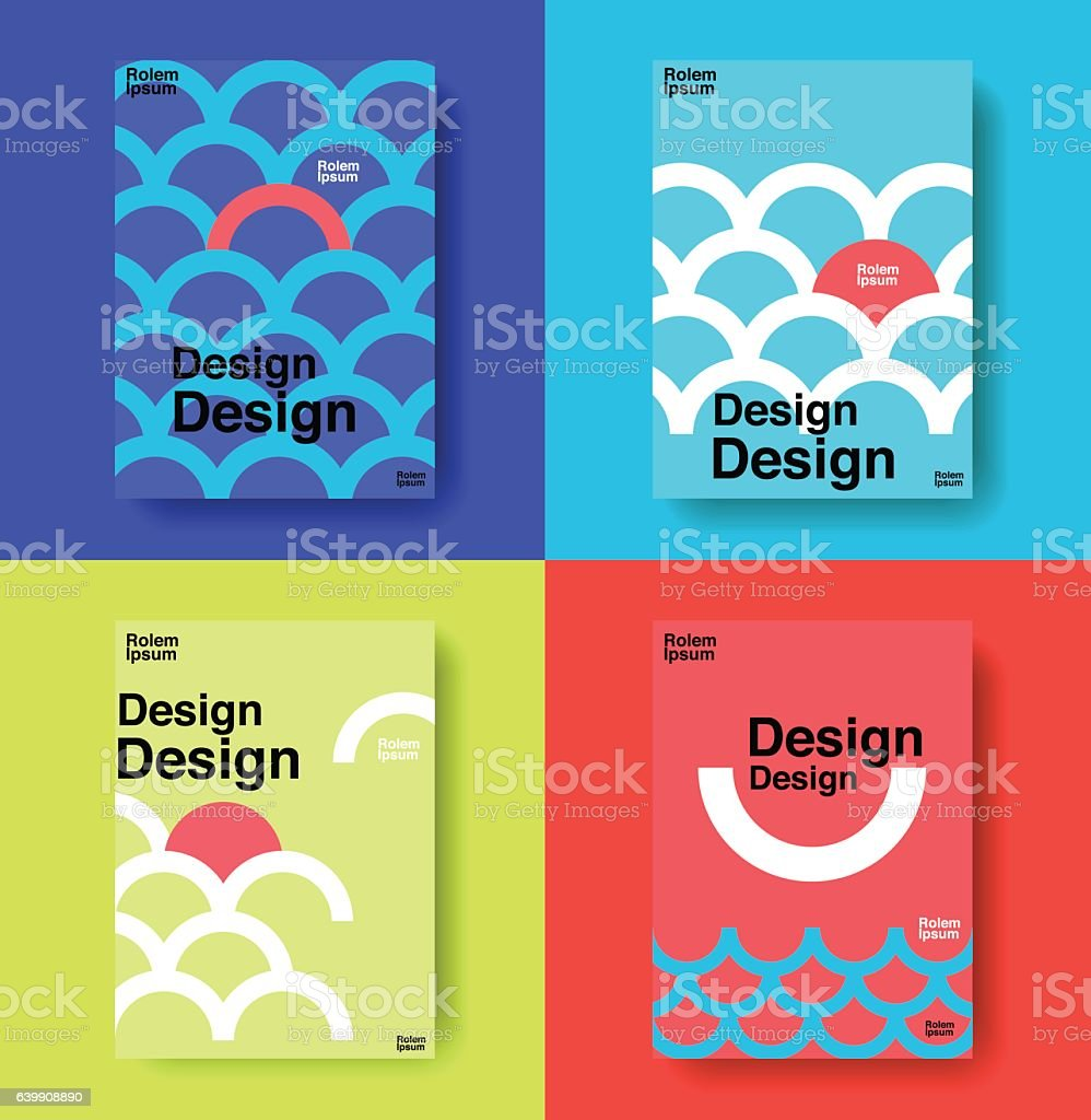 layout design template, cover book, colorful vector art illustration