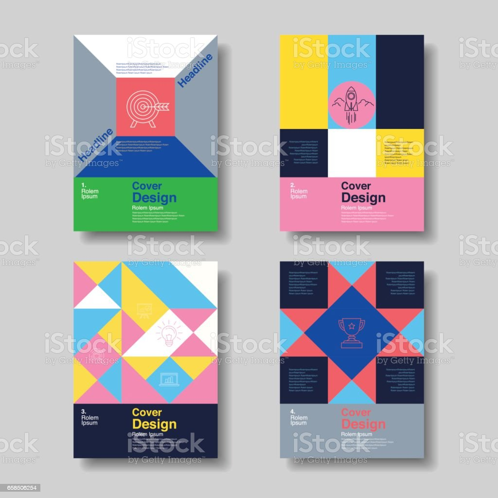 Layout Design Template, Cover Book, Flyer, Brochure, Business ,Geometry Form, Colorful ,Vector Illustration. vector art illustration
