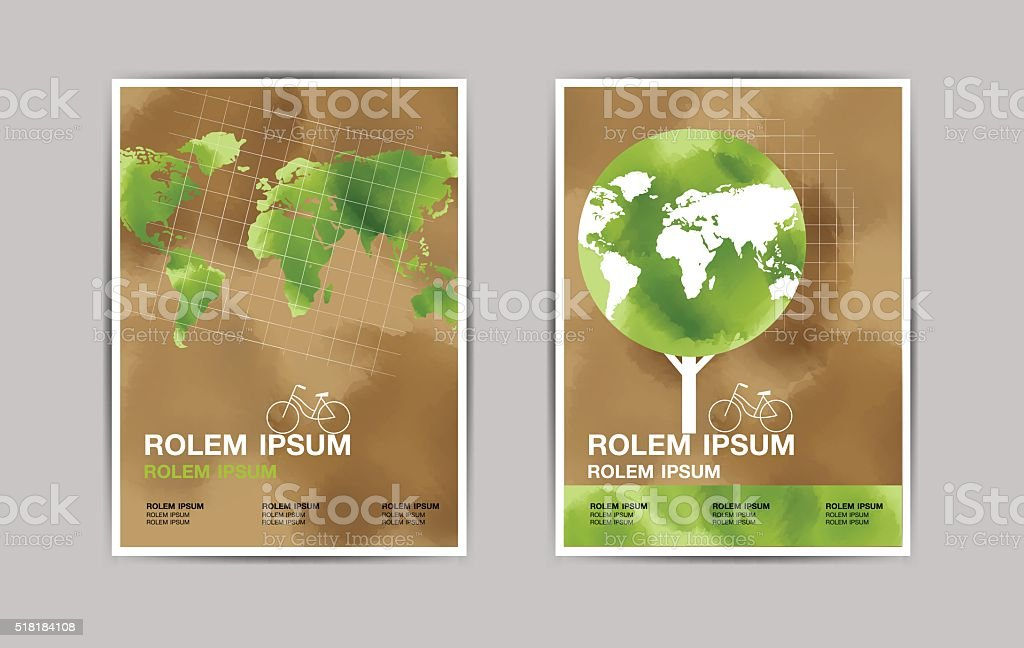 layout design , template, earth day vector art illustration