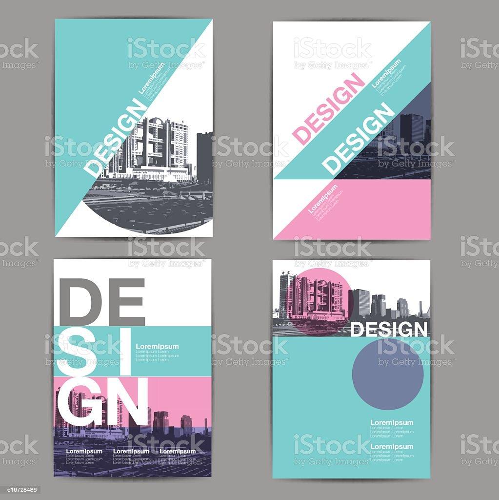 layout design, template vector art illustration