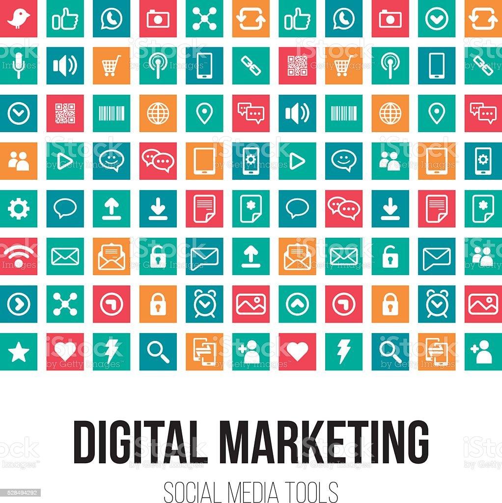 Layout Digital Marketing vector art illustration