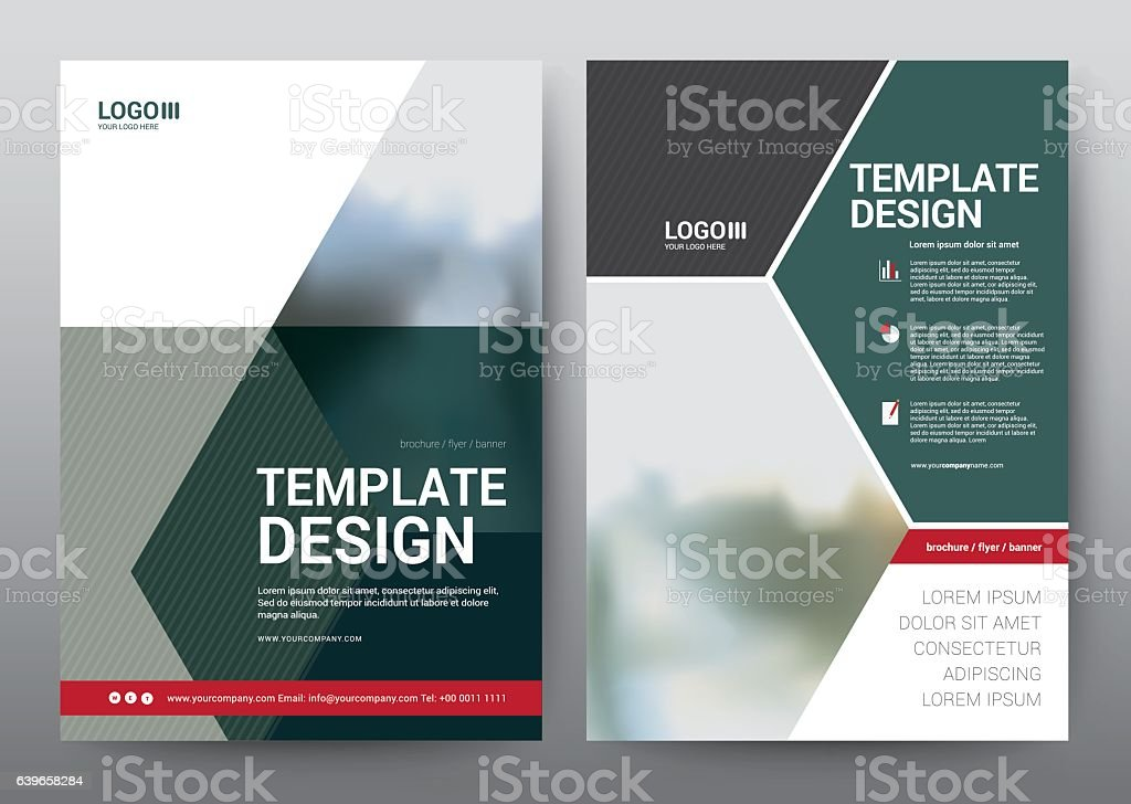 Layout Template for Brochure Poster, Leaflet, Annual Report, Pre vector art illustration