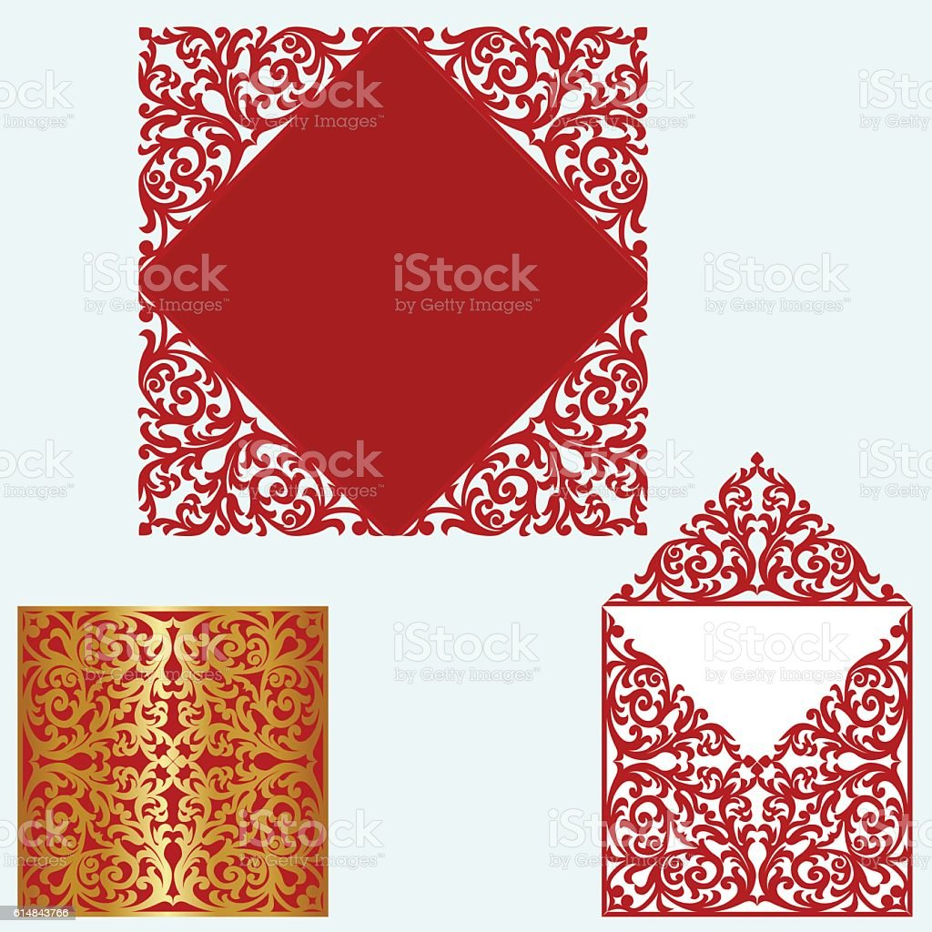 Layout Wedding Invitation stock vector art 614843766 | iStock