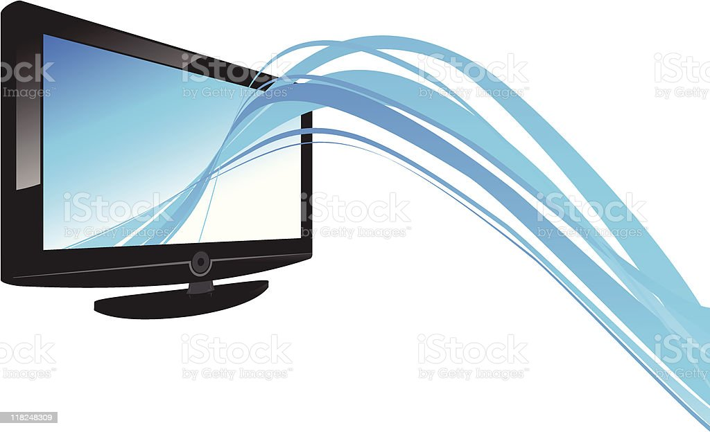 lcd and line royalty-free stock vector art
