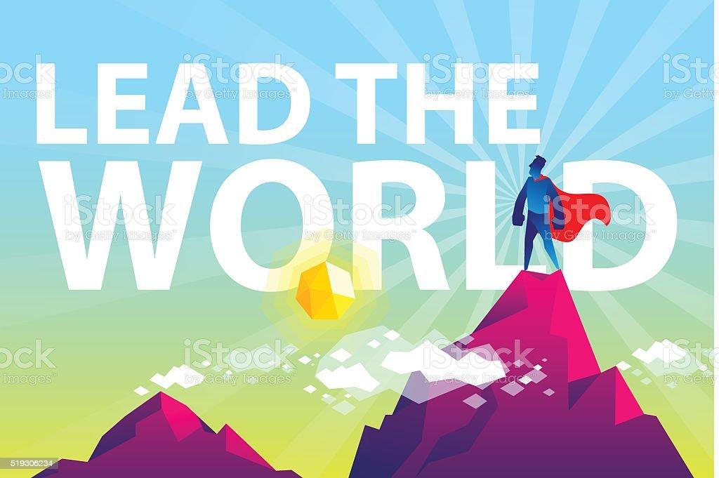 Lead the world vector art illustration