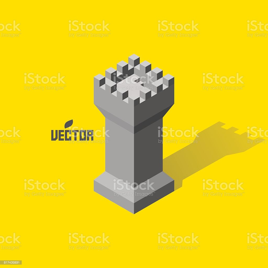 Leader concept. Tower. 3d vector illustration. vector art illustration