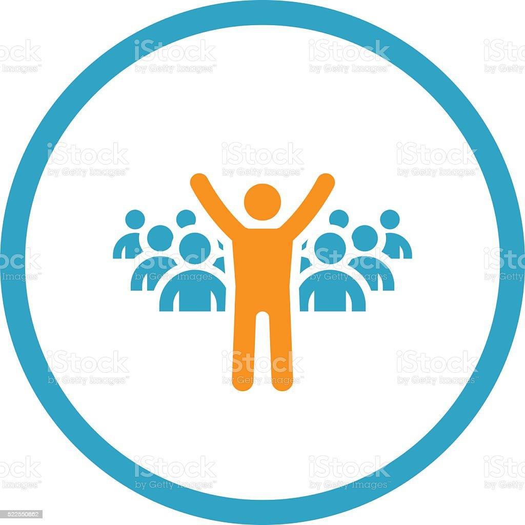 Leader Icon. Business Concept. Flat Design. vector art illustration
