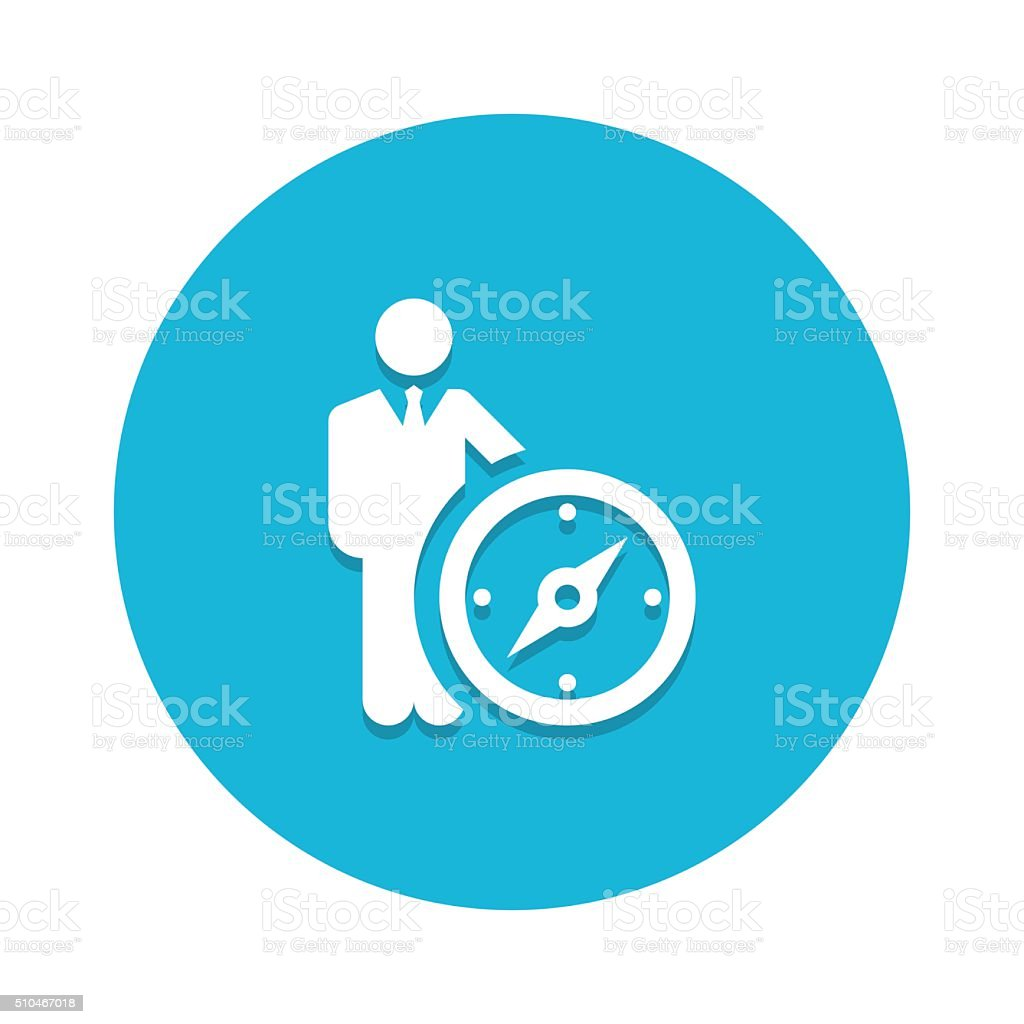 Leader vector icon graphic vector art illustration