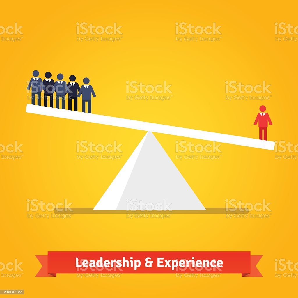 Leadership and experience vector art illustration